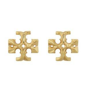 Tory Burch Large Gold Logo Earrings